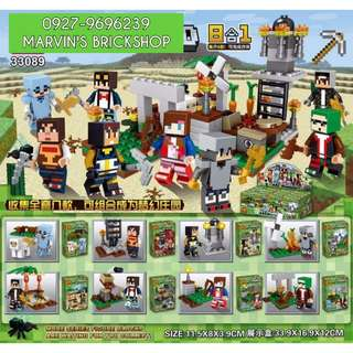 For Sale MINECRAFT 8in1 Minifigures