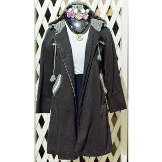 Jacket with Knitted Hood