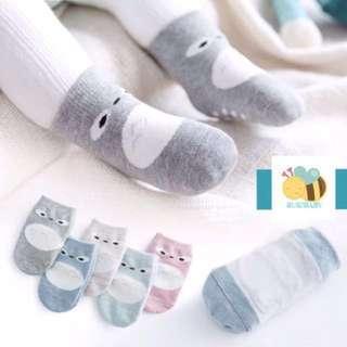 <Instock> Set of Baby Socks with Anti-Slip (5pairs-B)