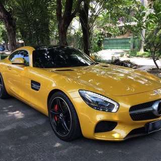Mercy AMG GTS solar yellow 2015