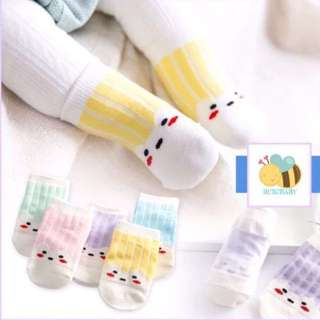 <Instock> Set of Baby Socks with Anti-Slip (5pairs-A)