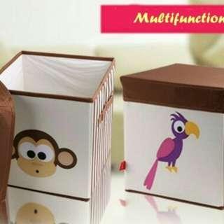 Box multifungsi cartoon(tempat duduk dan tempat penyimpanan)