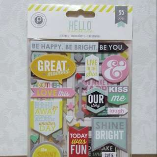 Pink Paislee 'Hello Sunshine' Stickers