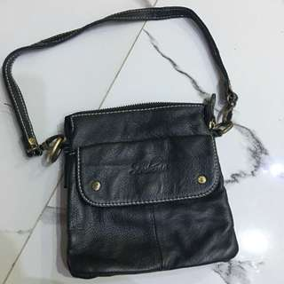 SEMBONIA leather mini black bag