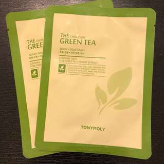 HKD6/20g/包 tony moly green tea mask