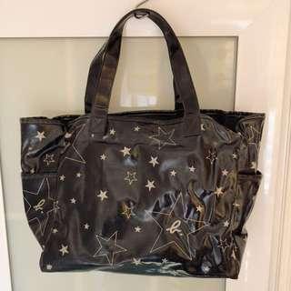 Agnes B 經典 classic 黑色x星星 單肩袋 手抽袋 手拎袋 handbag