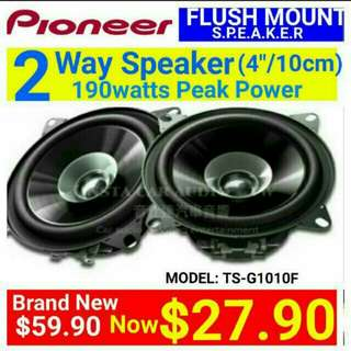 """PIONEER SPEAKER -  4""""/10CM Coaxial Speaker 190Watts Peak Power.  Model number: TS-G1010. Usual Price: $ 59.90. Special Price: $27.90 ( Brand New In Box &  Sealed) whatsapp 85992490 to collect today now."""