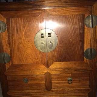 A rare Huang Hua Li  wood more mini cabinet