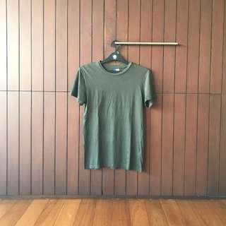 H&M Dark Green T-Shirt