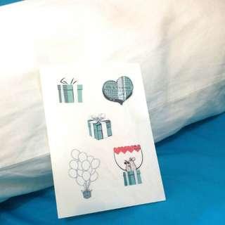 Tiffany 紋身貼紙