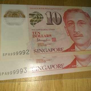 ☆[999992 -3]☆Portrait Series $10 Polymer Note