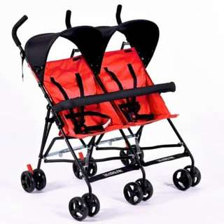 Lightweight Twin Umbrella Stroller