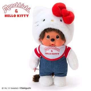 情人節禮物 💕🎁💕 Monchhichi x Hello Kitty M size 公仔