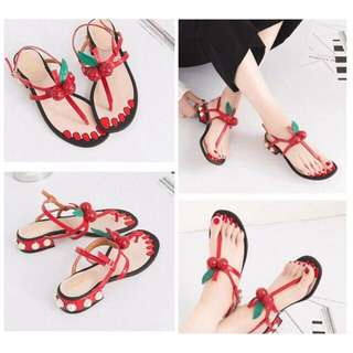 KAIA RED SANDALS (Gucci Inspired)