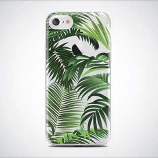 Clear Palm Tress Case Iphone 7+