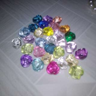 Crystal beads (roses)