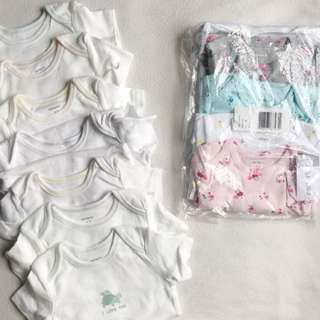 Brand New Carter's Onesies: White and Floral Collection 🌸