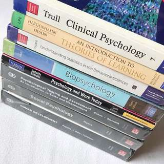 Psychology Books (Take all for PHP 3,000.00)