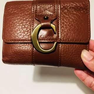 Chloe wallet real leather