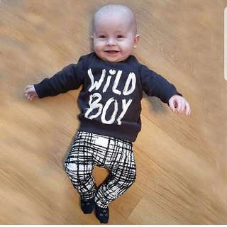 ❤INSTOCK❤ Wild Boys Top and Pants Set