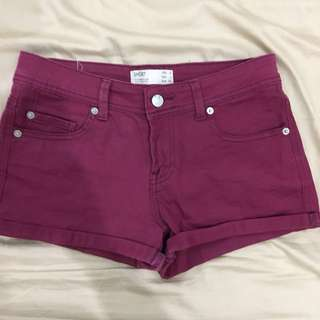 Cotton On Maroon Hot Pants