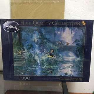 白雪公主與七個小矮人油畫材質拼圖