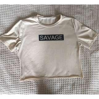 Savage crop top