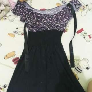 Model sabrina,bisa di jadikan atasan atau mini dress.