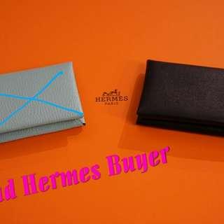 全新Hermes Card Calvi 單個$2400(黑色咭片套Full Set)