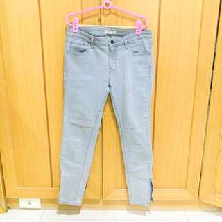 🚚 ✌日系品牌 九分拉鏈彈性長褲