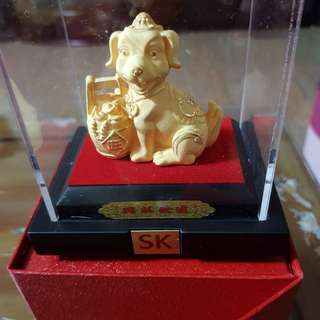 BNIB SK Jewellery Golden Dog Set
