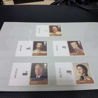 British Monarchs Windsor Complete Set Mint with Margin