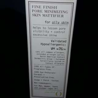 VMV Hypoallergenics Fine Finish Pore Minimizing Skin Mattifier