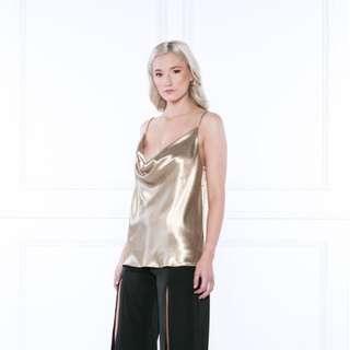 Delphine Gold Cami Top