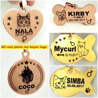 Customized Deep Engraving Designer Pet ID Tag For Dogs & Cats