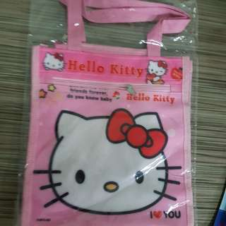 Hello kitty bag. Hand carry lunch bag. With 2 zip. New