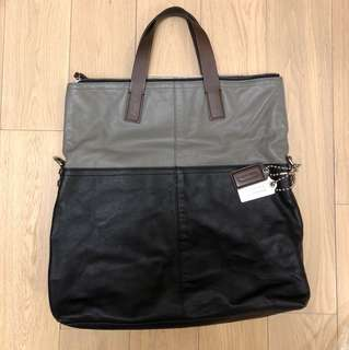 Coach Leather Tote Bag / Messenger Bag