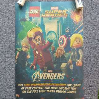 [4 for $6} LEGO Marvel & DC Heroes Posters