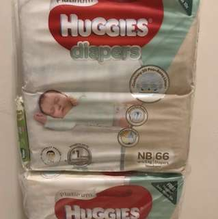 Huggies Newborn (2 Packs at SGD $33)