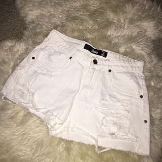 Factorie White Shorts (DIY DISTRESSING)