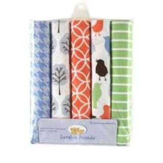 Luvable Friends Receiving Blanket Bundle (Garden)