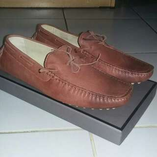 PEDRO Brown Tie Moccasins New