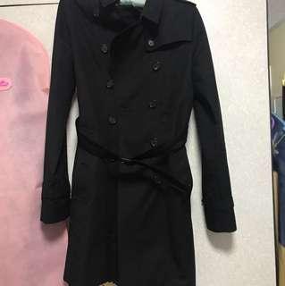 burberry coat經典款黑色(顯瘦)