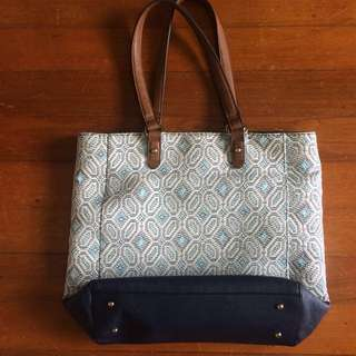 Marks & Spencer weaved bag