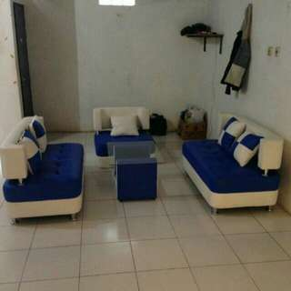 Sofa Minimalis Sate Set + Meja