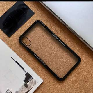 Luxury iphone x tpu + glass case for iphone x