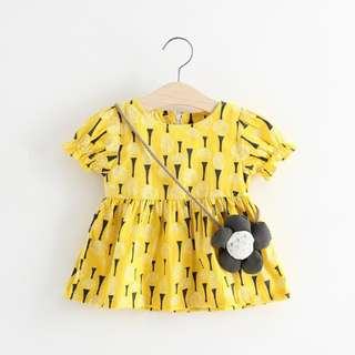 READY STOCK Summer Baby Girl Retro Cotton Floral T-shirt Blouse