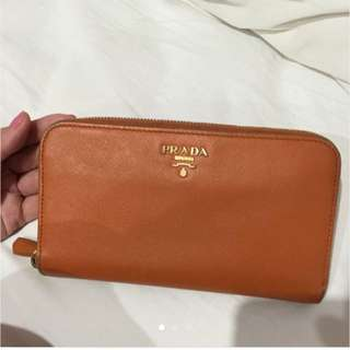 Orange Prada Milano Wallet
