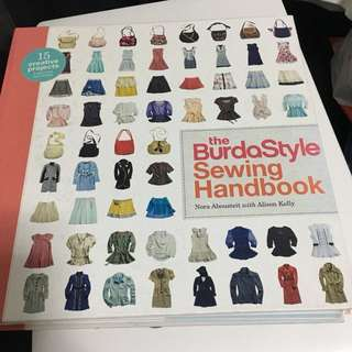 The burda style sewing handbook with untouched patterns inside