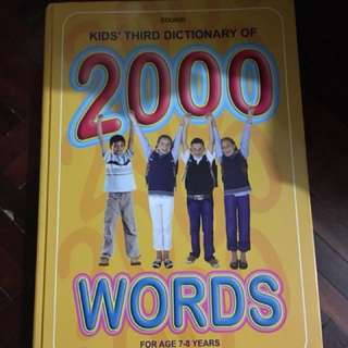Kid's third dictionary of 2000 words